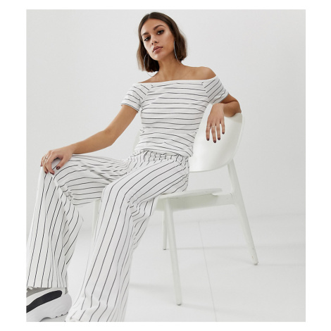 Na-kd wide leg stripe trousers in black and white