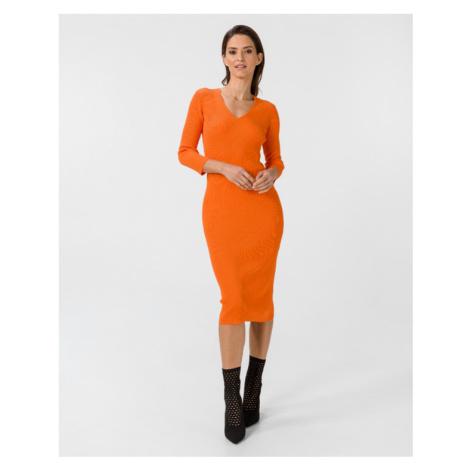 TWINSET Sukienka Pomarańczowy