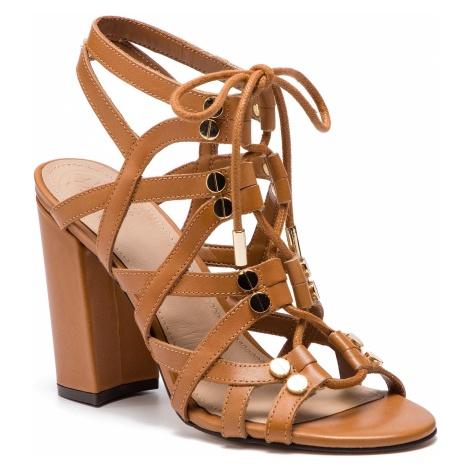 Sandały GUESS - Karlie FL6RLI LEA03 NUDE