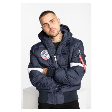 Kurtka Alpha Industries Hooded Puffer 07 Navy