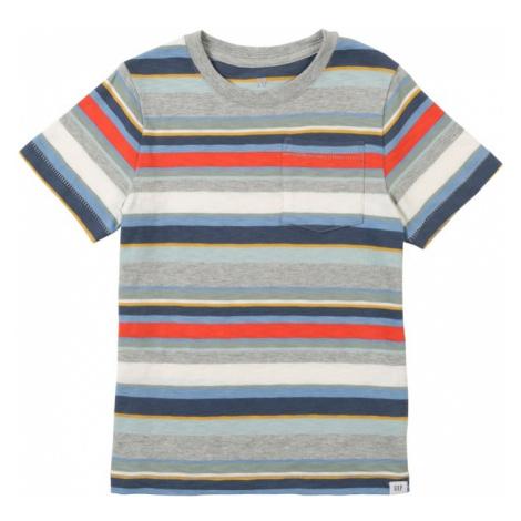 GAP Koszulka nakrapiany szary / jasnoczerwony / biały