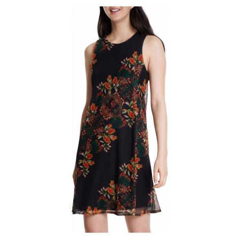 Desigual czarna sukienka Vest Papillon