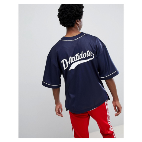 D-Antidote Oversized Baseball T-Shirt With Logo