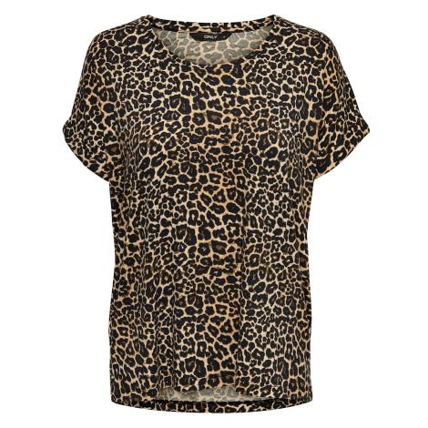ONLY Koszulka 'MOSTER' brązowy / jasnobrązowy / ciemnobrązowy