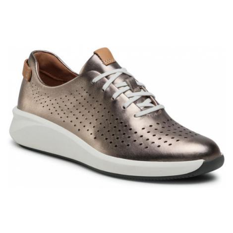 Clarks Sneakersy Un Rio Tie 261517234 Złoty