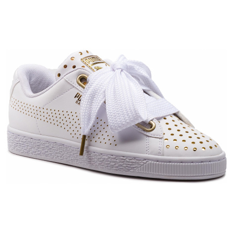 Sneakersy PUMA - Basket Heart Ath Lux Wn's 366728 01 Puma White/Puma White