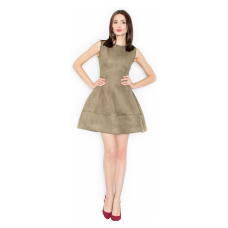 Figl kobieta sukienka M457 oliwka