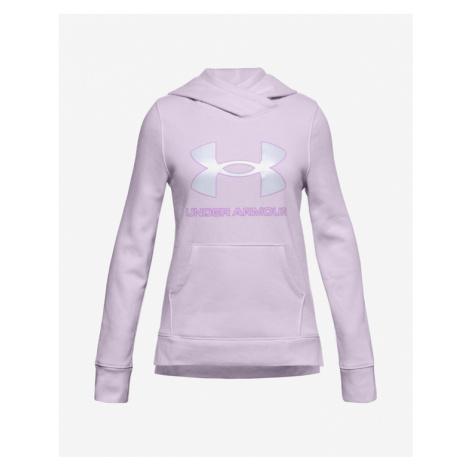 Under Armour Rival Fleece Logo Bluza dziecięca Fioletowy