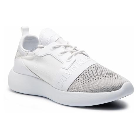 Sneakersy CALVIN KLEIN JEANS - Mel SE8604 Silver/White