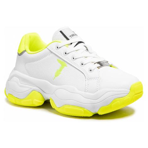 Sneakersy TRUSSARDI - 79A00653 White/Yellow