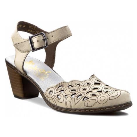 Sandały RIEKER - 40975-80 Beżowy