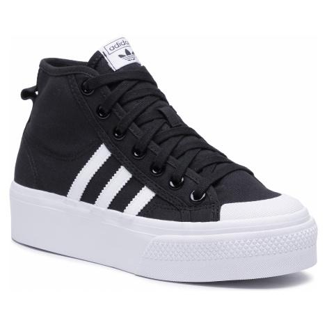 Buty adidas - Nizza Platform Mid W FY2783 Cblack/Ftwwht/Ftwwht