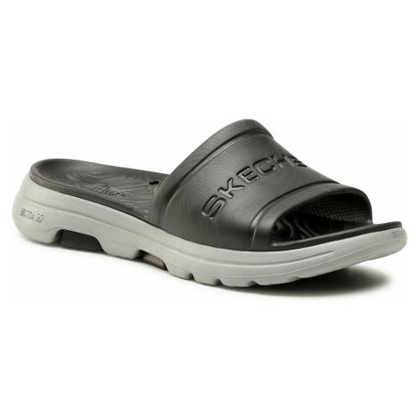 Klapki SKECHERS - Go Walk 5 243005/BKGY Black/Gray