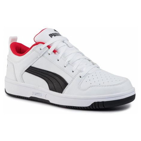 Sneakersy PUMA - Rebound Layup Lo Sl 369866 01 White/Black/High Risk Red