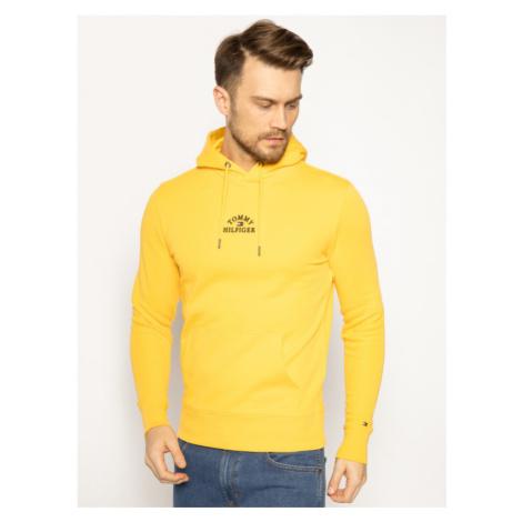 TOMMY HILFIGER Bluza Basic Embroidered MW0MW13037 Żółty Regular Fit