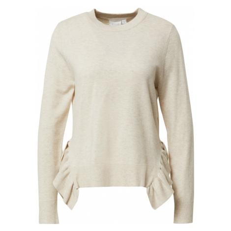 VILA Sweter 'ELASTA' beżowy
