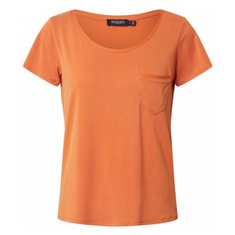SOAKED IN LUXURY Koszulka 'SL Columbine Tee' jasnopomarańczowy
