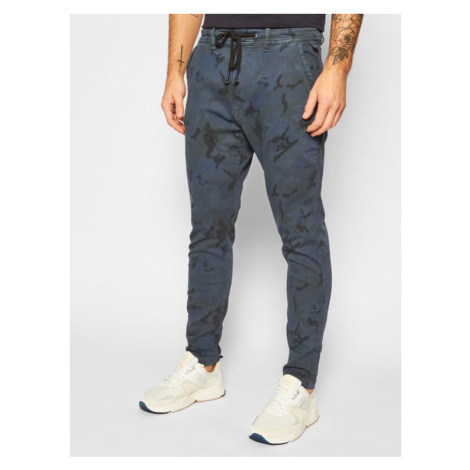 Pepe Jeans Joggery GYMDIGO Johnson Knit PM211367 Granatowy Relaxed Fit