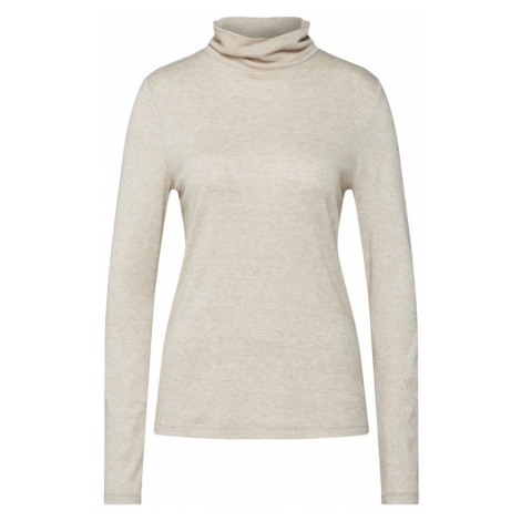 ONLY Sweter 'ASHLEY L/S HIGHNECK TOP BOX JRS' beżowy