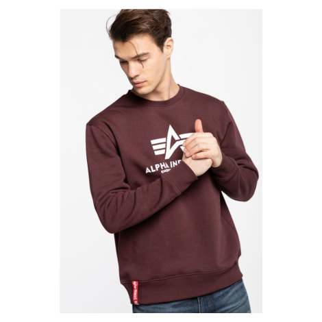 Bluza Alpha Industries Basic Sweater 21 Deep Maroon