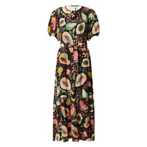 SELECTED FEMME Sukienka brązowy / czarny / turkusowy / różowy pudrowy