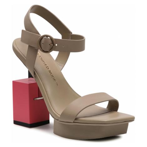 Sandały UNITED NUDE - Cube Sandal Hi 10405685156 Hummus