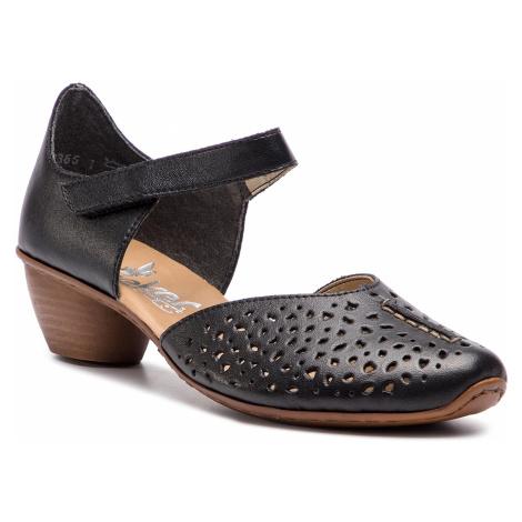 Sandały RIEKER - 43795-01 Schwarz