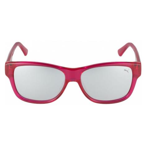 PUMA Okulary przeciwsłoneczne 'PJ0004S ' srebrny / fuksja / czarny