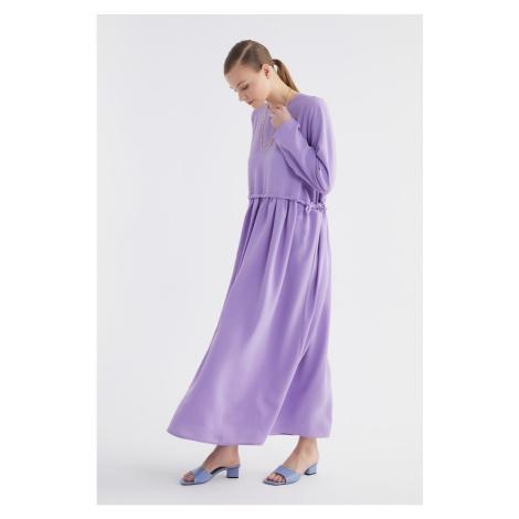 Suknia na szyję trendyol purple