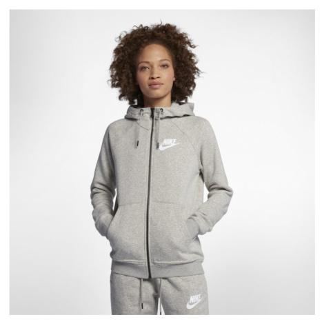 Damska rozpinana bluza z kapturem Nike Sportswear Rally - Szary