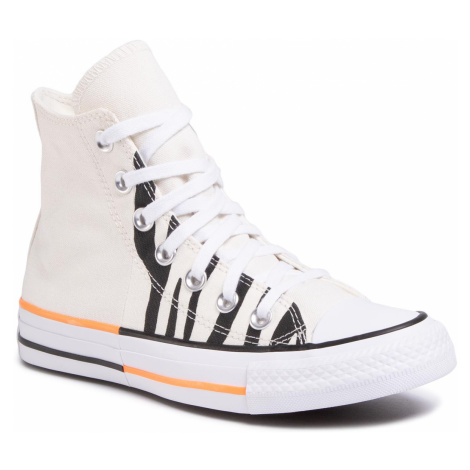 Trampki CONVERSE - Ctas Hi 167662C Egret/Total Orange/Black