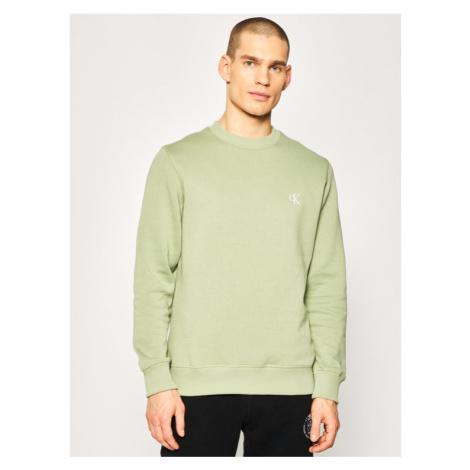 Calvin Klein Jeans Bluza Embroidered Logo J30J314536 Zielony Regular Fit