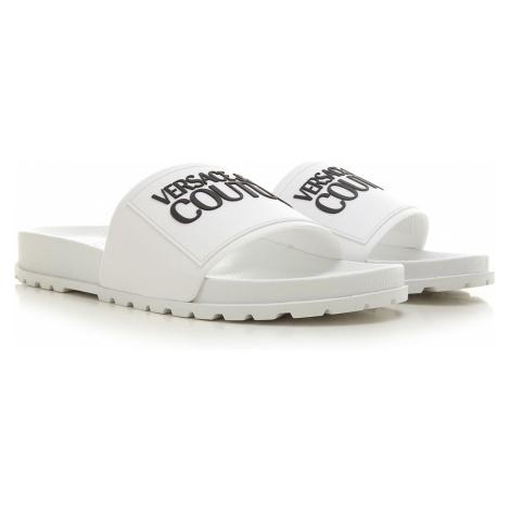 Versace Jeans Couture Sandały dla Mężczyzn, biały, Guma, 2021