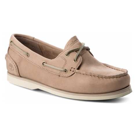 Mokasyny TIMBERLAND - Classic Boat Unlined Boat A1NB2 Pure Cashmer