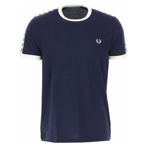 Fred Perry Koszulka dla Mężczyzn Na Wyprzedaży w Dziale Outlet, Carbon Blue, Bawełna, 2019
