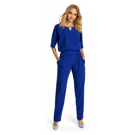 Made Of Emotion Woman's Jumpsuit M334 Royal