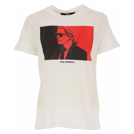 Karl Lagerfeld Koszulka dla Kobiet Na Wyprzedaży, biały, Bawełna, 2019