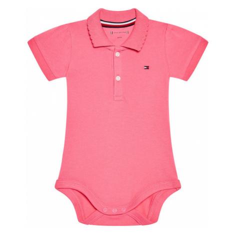 Tommy Hilfiger Body dziecięce Giftbox KN0KN01125 Różowy Regular Fit
