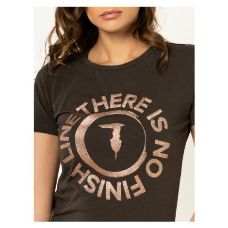 Trussardi Jeans T-Shirt 56T00245 Zielony Slim Fit