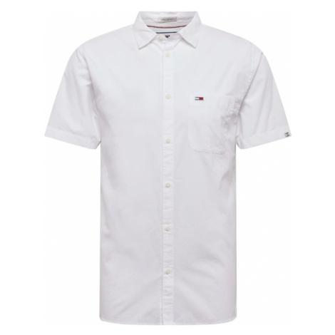 Tommy Jeans Koszula 'S/S Solid Poplin' biały Tommy Hilfiger