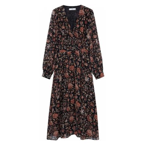 MANGO Sukienka koszulowa 'Winter' rdzawoczerwony / czarny / beżowy