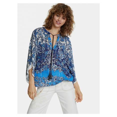 Desigual niebieska wzorzysta bluzka