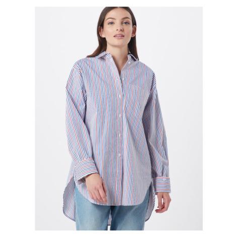 ESPRIT Bluzka 'PRINTED POPLIN' biały / czerwony / niebieski