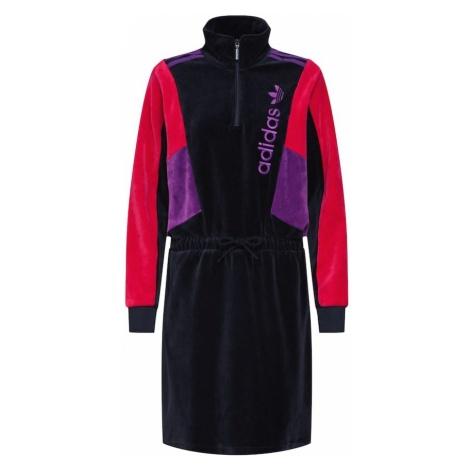 ADIDAS ORIGINALS Sukienka 'TRACK TOP DRESS' różowy / czarny