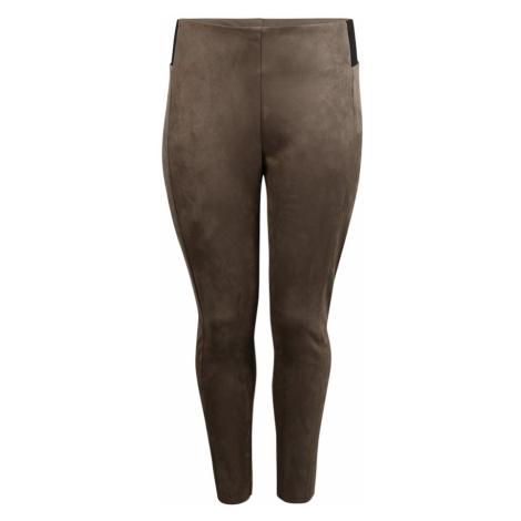 Vero Moda Curve Legginsy 'Cava' czarny / brązowy