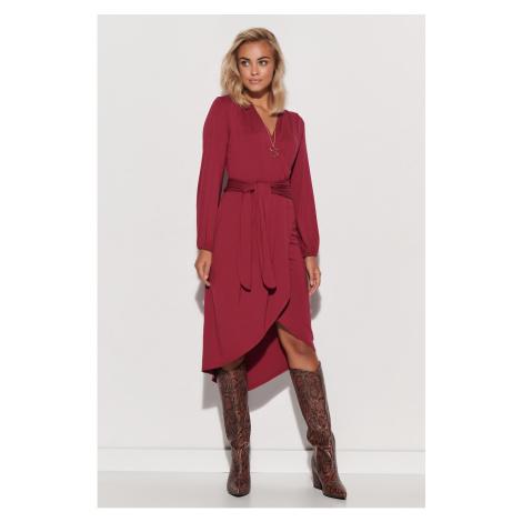Sukienka damska Makadamia M577 Burgundia