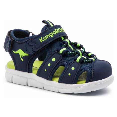 Sandały KANGAROOS - K-Mini 02035 000 4054 Dk Navy/Lime