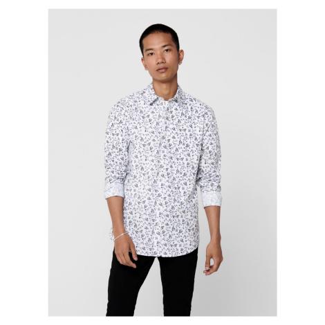 Biała wzorzysta koszula ONLY & SONS Sander