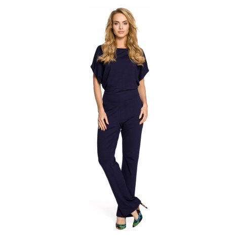 Made Of Emotion Woman's Jumpsuit M319 Navy Blue