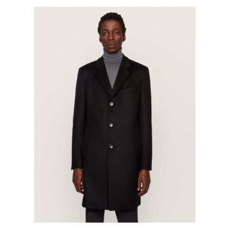 Boss Płaszcz przejściowy Nye2 50438689 Czarny Regular Fit Hugo Boss